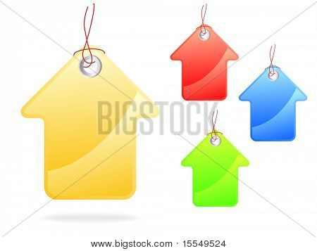 Tag house or arrow shape Vector. Visit my portfolio for big collection of tags