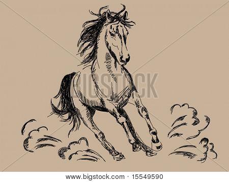 Handgezeichnete Pferd Vektor. Besuchen Sie mein Portfolio für große Sammlung von Kritzeleien