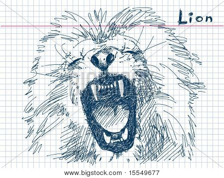 Hand drawn lion Vector. Visit my portfolio for big collection of doodles