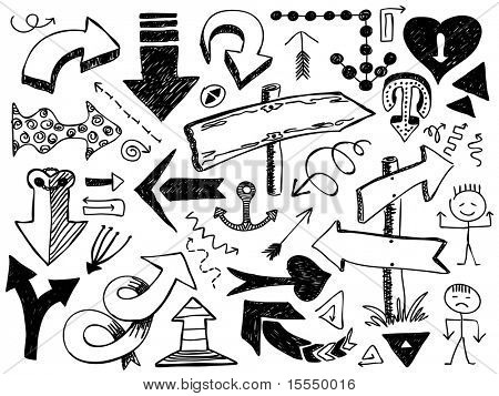 set of hand drawn arrows. Visit my portfolio for big collection of doodles