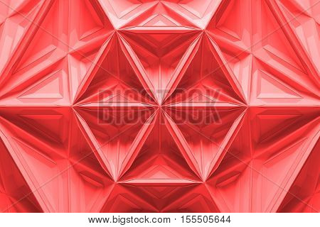 Abstract 3D Rendering Background. Deformed Mesh. Fractal Like Surface.