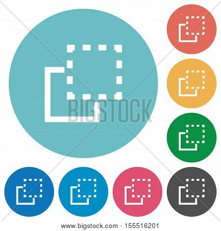 Bring to front white flat icons on color rounded square backgrounds
