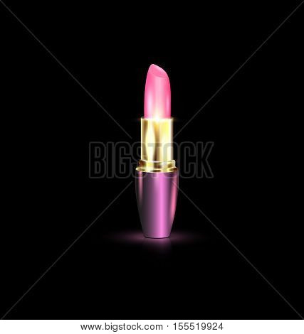 dark background and the large pink lipstick
