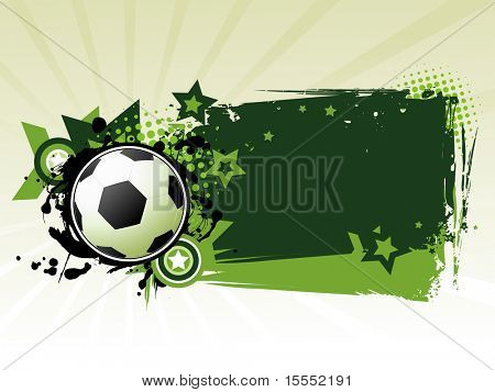 Its a Football background vector with space for text