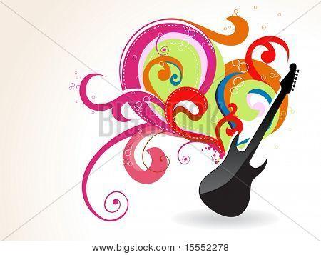 Beautiful guitar vector art