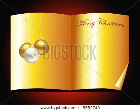 beautiful vector golden christmas book design