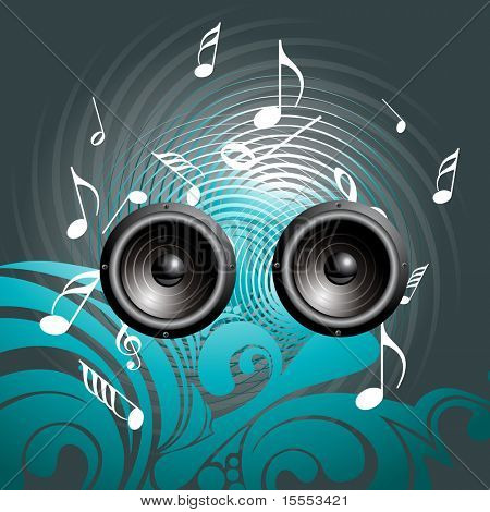 vector music speaker background art