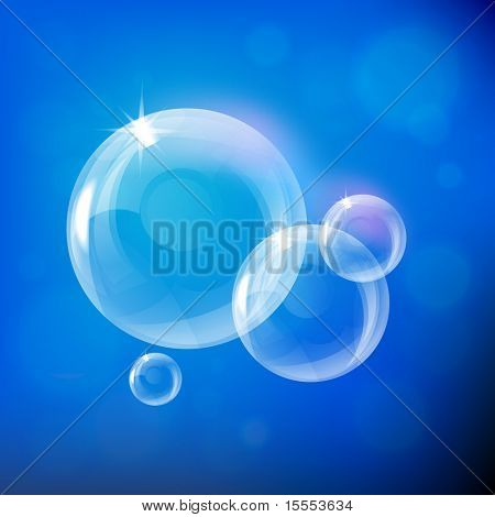 vector light soap bubble