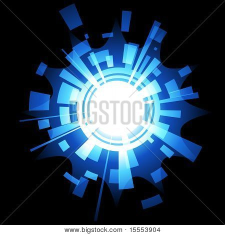 vector techonology background with glow