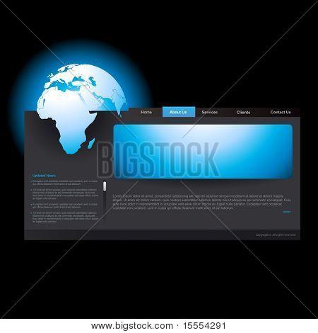 Vektor editierbare Webseite Vorlage Business-theme