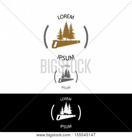 Wood Workshop business identity vector logo design