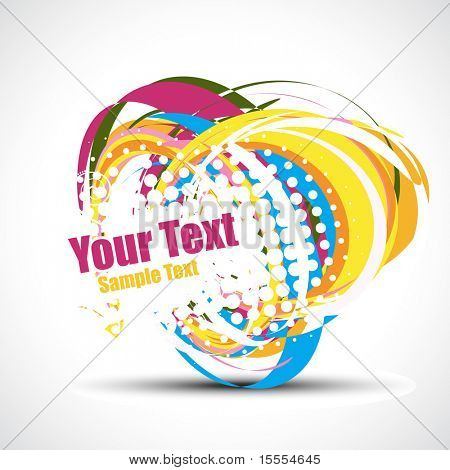 vector abstract colorful design with design elements