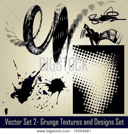 vector abstract grunge set elements and design