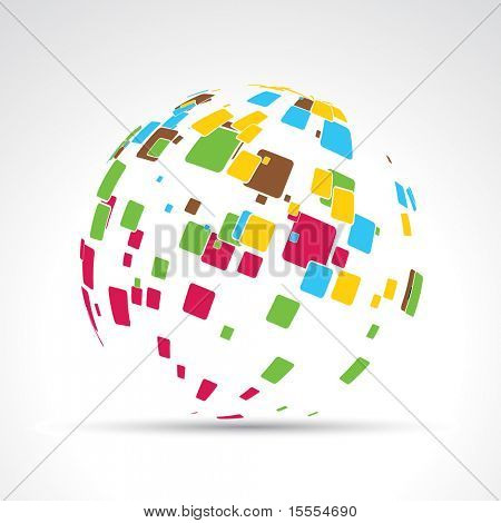 vector abstract mosaic design illustration