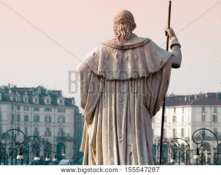 Statue Of King Looks At The City, Turin