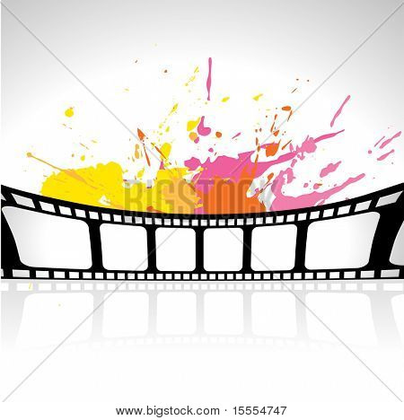 vector reel in grungy background