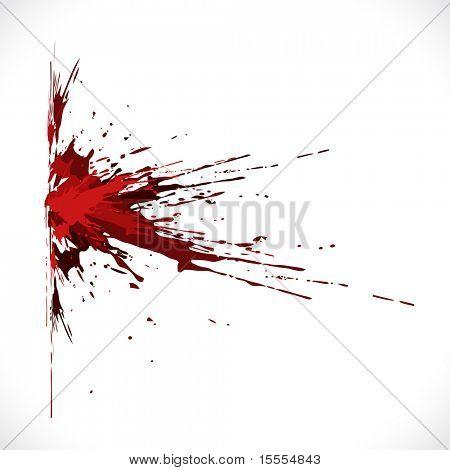vector blood shot grunge background