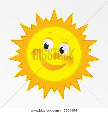 vector happy sun vector art design