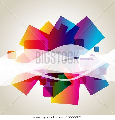 colorful abstract vector wave design background