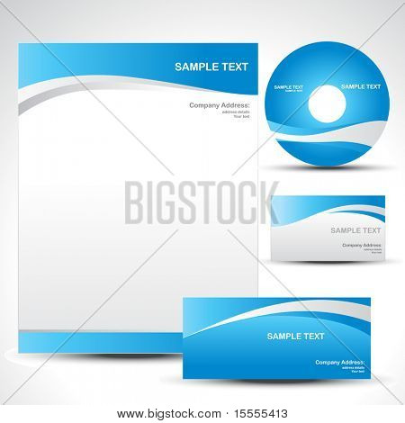 vector style template design set