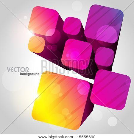 attraktive stilvolle Cube-Design-Vorlagen