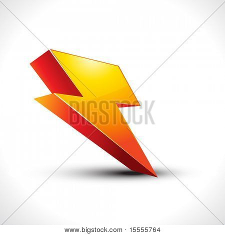 vector electricity 3d icon on white