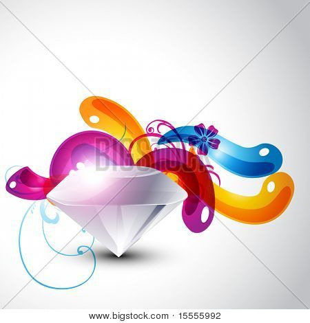 vector diamond design with colorful eps10 background