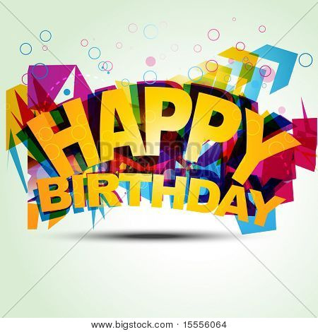 funky birthday style vector illustration