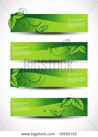 eco set of headers with four different style
