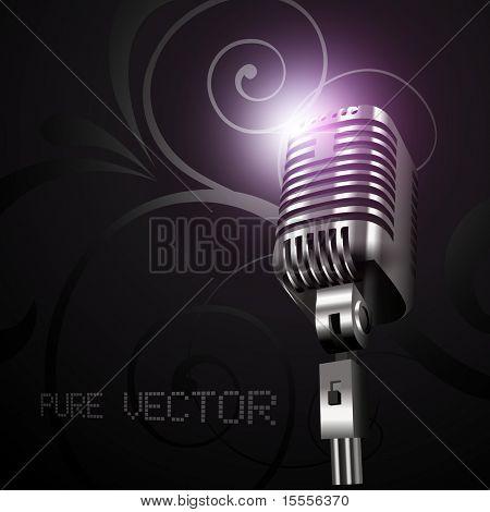 vector mic in dark background