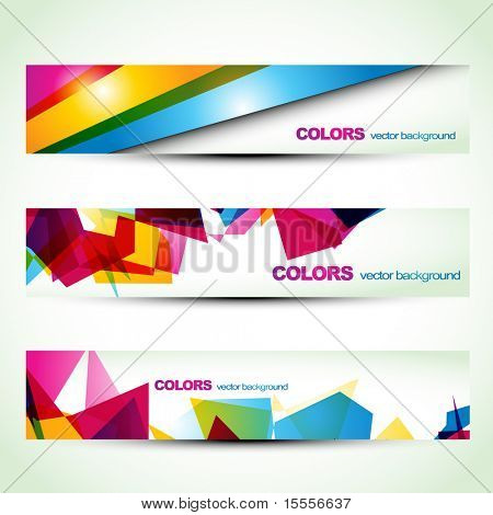 abstract colorful banner set designs. Eps10 vector