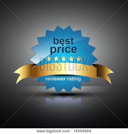 vector best price label in blue color