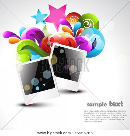 Vektor-Foto-Rahmen-Design-illustration