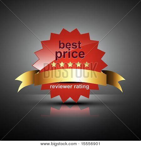 vector best price label in red color