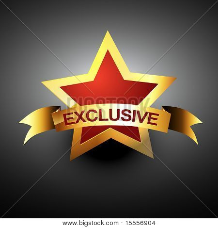 exclusive vector icon in golden color
