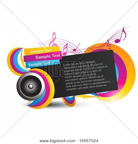 stylish music vector design background