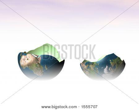 The Split Globe.