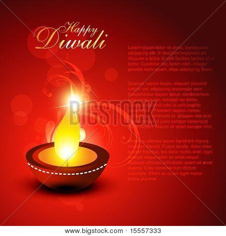 beautiful diwali vector background