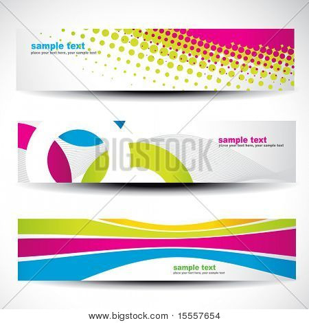 abstract header vector set 1