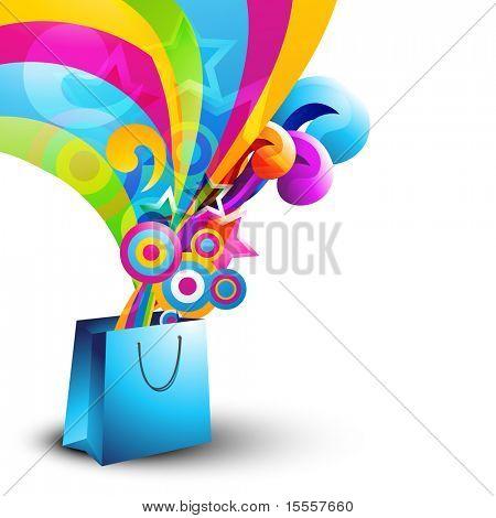 stylish vector shopping bag design