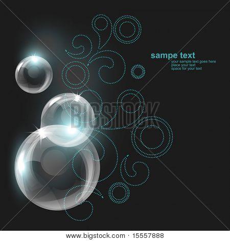 vector transparent bubble design illustration