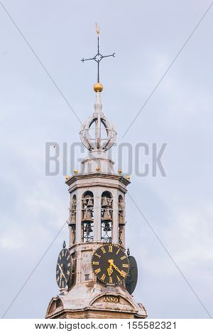 The steeple of