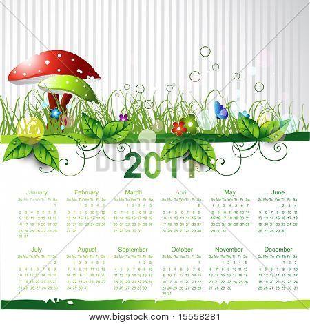 new year eco green calendar design
