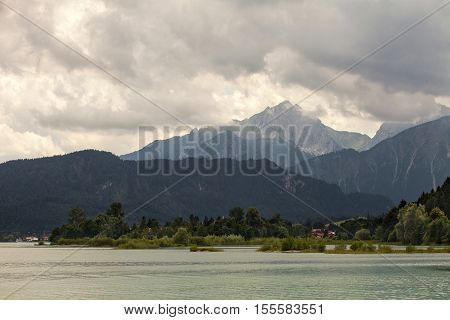 Amazing views from the Forggensee lake in Germany
