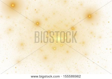 Color Splash. Abstract Colorful Orange And Yellow Sparks On White Background. Fantasy Fractal Textur
