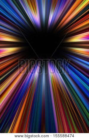 Colourful starburst explosion background with a black copy space