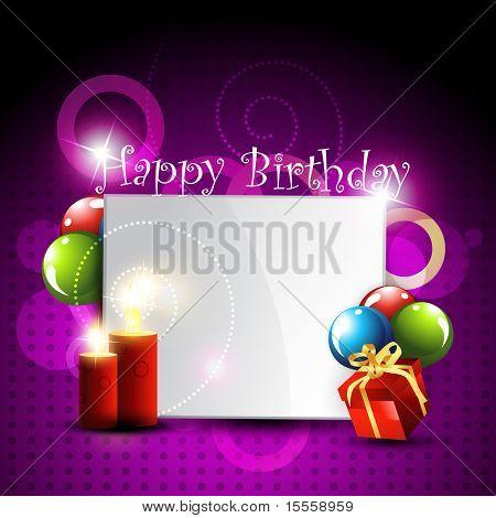 stylish happy birthday design art