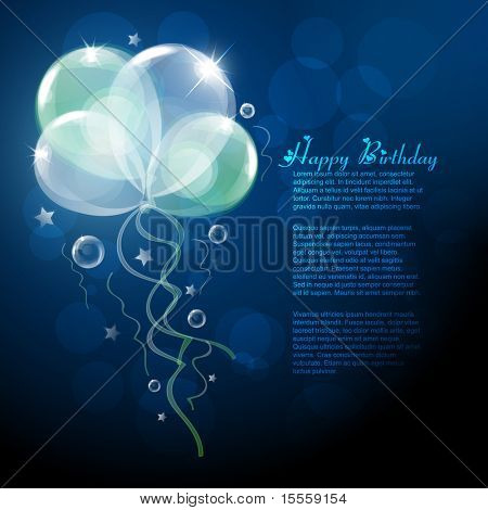 beautiful vector balloons design background