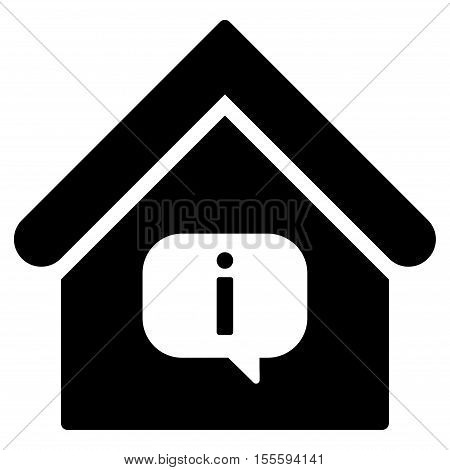 Hint Building vector icon. Flat black symbol. Pictogram is isolated on a white background. Designed for web and software interfaces.