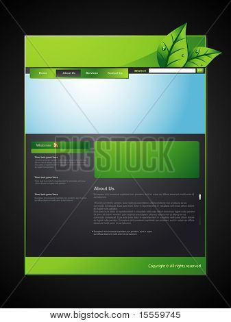 vector eco web layout design